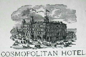 The Cosmopolitan Hotel  reproduced from a hotel letter head