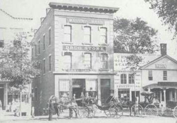 The Whiting Drugstore at the end of the 1880s (Gary T. Leveille Old Route 7: Along the Berkshire Highway, Arcadia Publishing, 2001)